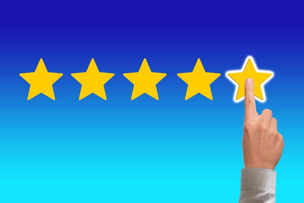 評価を現した星の図