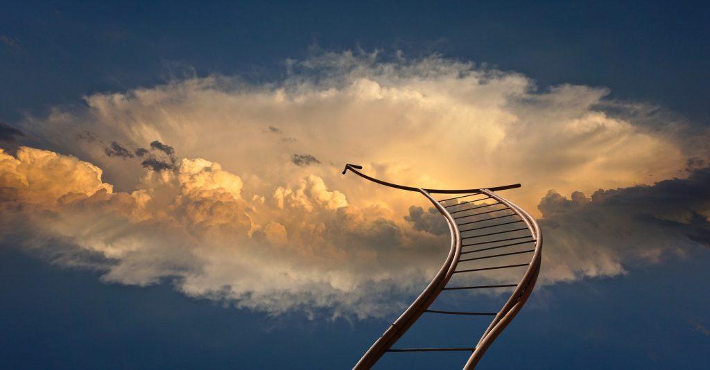 空へと続く梯子