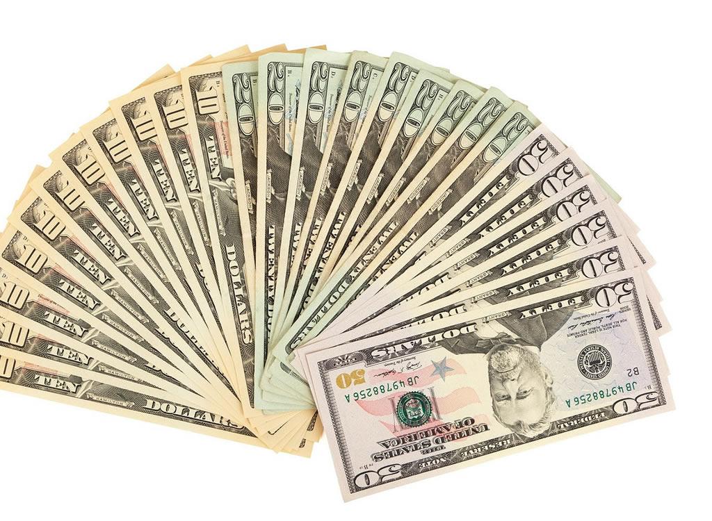 複数のドル紙幣