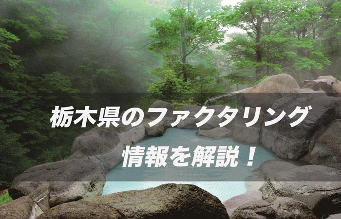 栃木県のファクタリング情報を解説!