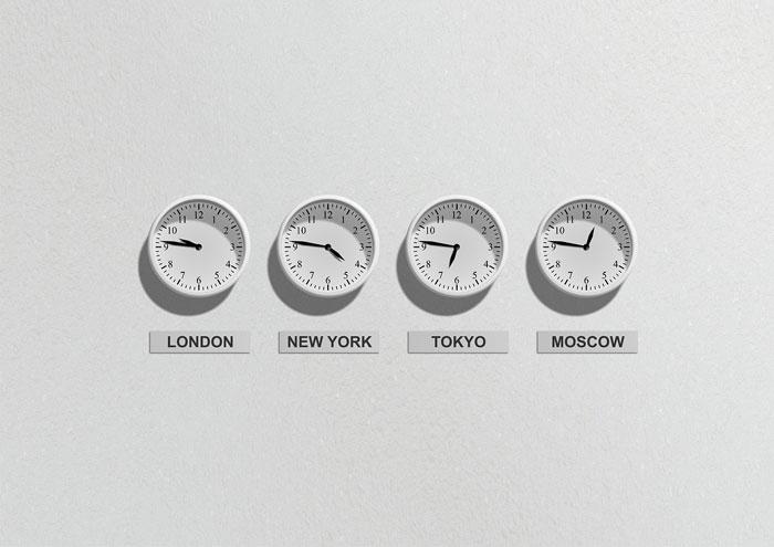 各国の時計