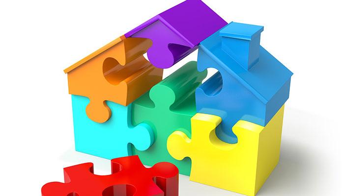 家の形をしたパズル