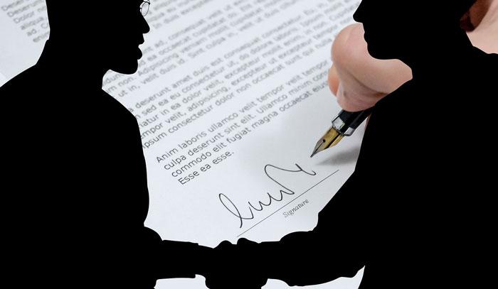 契約するsilhouette