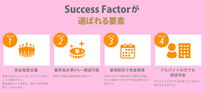 Success Factorが選ばれる様子