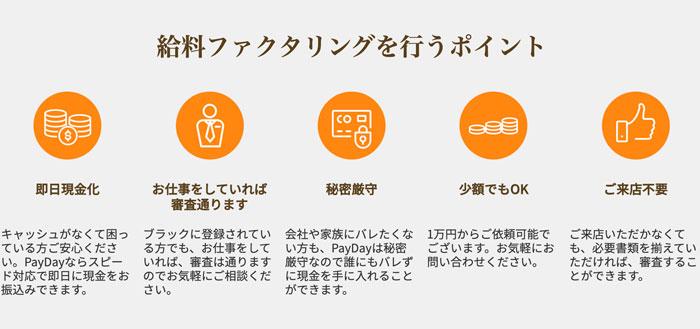 PayDayのメリット