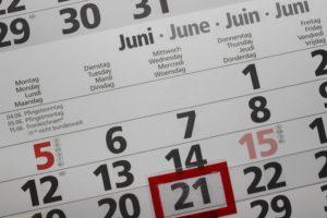 休日のカレンダー