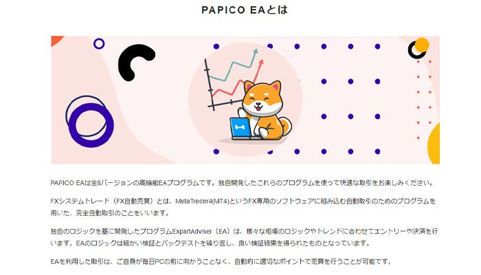 パピコのFXソフトについて